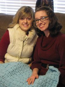 Krista and I with Liam's first blankie.